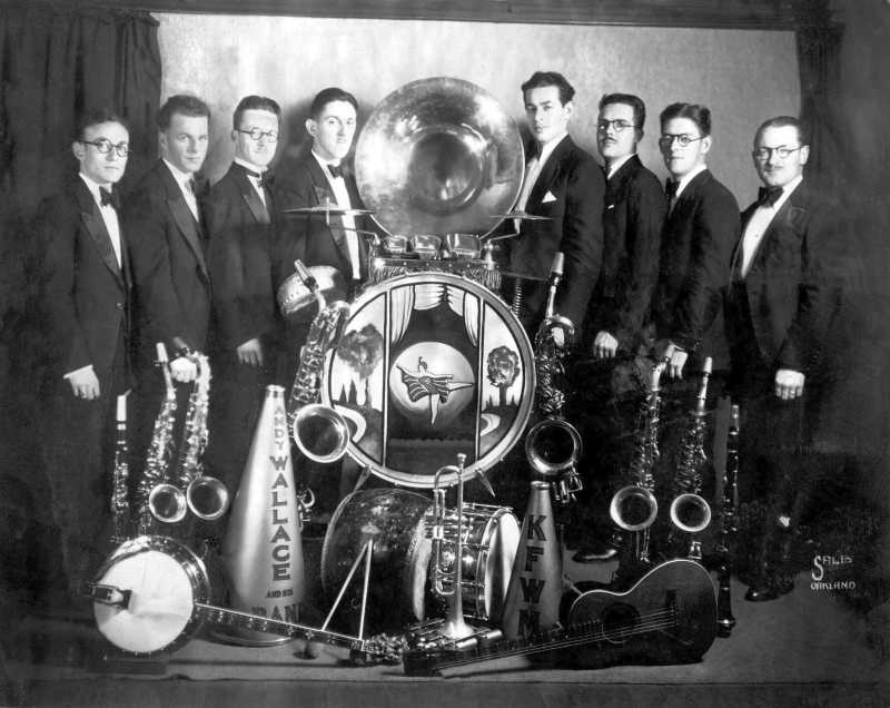 KFWM Radio, Oakland Andy Wallace & His Band Circa 1920s